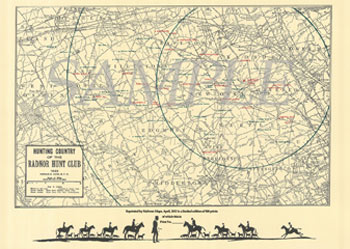 1923 Radnor Hunt Club Map