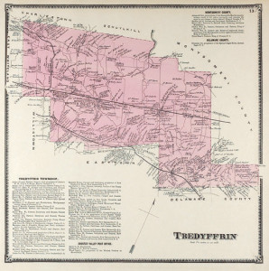 Tredyffrin Township from Witmers 1873 atlas